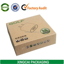brown kraft carton packaging for power adapter