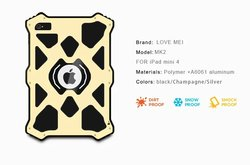 For ipad mini 4 Waterproof Shockproof Dirtproof Snowproof Aluminum Hard Metal Case with corning gorilla glass Cover