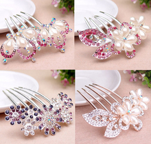 d46938a 2015 korean fashion crystal diamante flower hair accessory for women