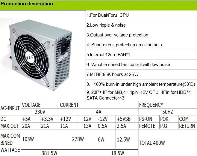 Zumax Atx Euf300 Active Pfc 300w Diy Desktop Power Supplies Computer ...