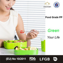 Hot-selling Office Lunch Box with Stackable Feature and Elastic Belt, Microwaveable, Food Grade, BPA Free 1200ml
