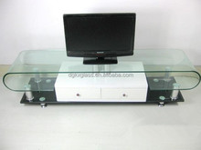 2015 hot sell dongguan china supplier colored tempered glass tv hall cabinet living room furniture design