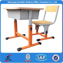 school steel chair and desk