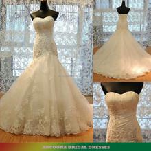 Sweetheart neckline Beaded Lace Appliques mermaid wedding dresses