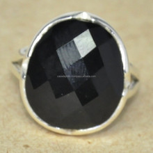 Natural Black Onyx Stone Silver Ring Wholesale Value 925 Silver Ring SER2122