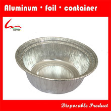 Disposable Small Take-out Container Restaurant Used Round Aluminium Foil Food Bowl With Plastic Lid