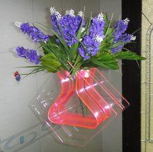 Vaso de pé Auto Plastic / flor vaso plástico / limpar vasos de flores de plástico