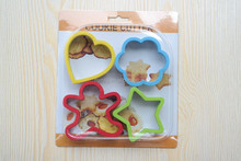 4pcs christmas silicone cookie cutter