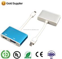 Mini DisplayPort to VGA / HDMI Adapter - White + Light Blue