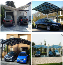 High Quality 10-year Warranty ISO Certification 100%Bayer Marolon polycarbonate sheet outdoor carport with UV Protection