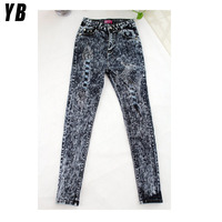 Women's high waisted skinny stretch d jeans