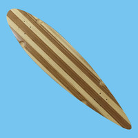 Custom Natural Wood Longboard Kicktail Cruiser Skate board