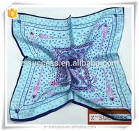 Chinese silk fabric office lady cheap italian silk scarf wholesale Spring square scarf magic silk scarf