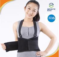 China suppliers Back Support Brace Belt Lumbar Lower Waist Double Adjust Black waist heavy lifting support belt