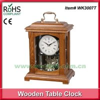 Wooden world table clock french desktop clock