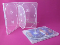 high quality clear /black 14mm 6 disc dvd case