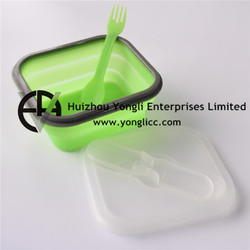 Eco Friendly BPA Free Folding Lunchbox silicone sushi container