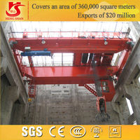 CE certificated 100t double beam overhead crane for pe