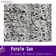 floral embroidery fabric polyester material 100 polyester mesh fabric