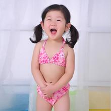 European hot sale bikini girl triangl bikini sexy kids bathing suit
