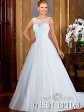 partida Correa vestido de fiesta de encaje blanco vestidos para bodas 2015