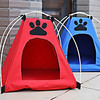 Pop up dog cat tent folding pet dog bed tents 40x40x45cm