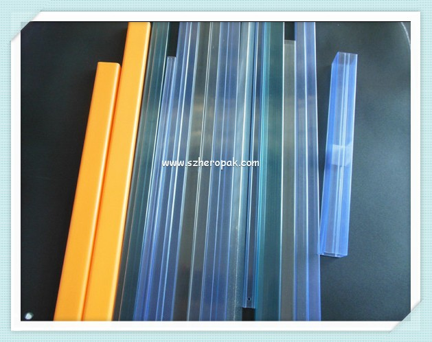 Clear packaging tubes rectangular pvc tube candy cane