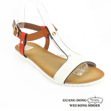 custom made simple design slingback open toe sandals ladies ankle strap flat shoes