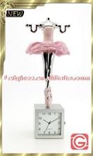 2015 newest zinc alloy dancing girl creative clock