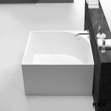 Europe Popular Square Stone Walk In Corner Bathtub