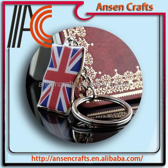 custom feitos british flag chaveiro