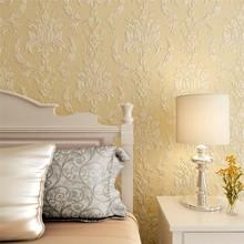 Clásico papel pintado del damasco europeo alta formación de espuma para sala de estar Susan