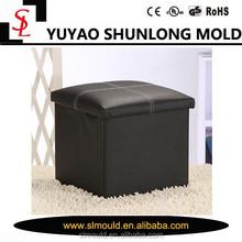 PU leather Folding Storage stool/storage box/ pouf