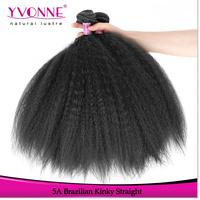Hot selling wholesale human brazilian kinky straight yaki hair weave