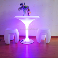 colorful lighting garden mushroom table with remote
