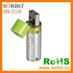 USB Direct Rechargeable Dry Battery / Rechargeable AA Dry Battery