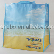 Lead free Beach Blue Sky Imprint Shopper non woven bag with handle