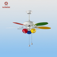 Advanced plywood beautiful colorful white ceiling fan
