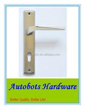 Wenzhou Bopai iron plate door handle with aluminum handle lever door handle