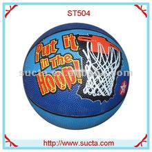 Put it in the hoop colorful rubber basketball ball ST504