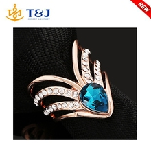 S>>>>New Model Fashion Gold Plated Latest Design Diamond Ring For Women