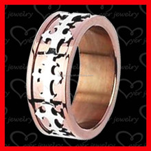 spikes stainless steel ring rose gold