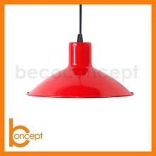 D23CM Metal Simple Red Modern Hanging Lamp