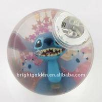LED flashing Glitter crystal bouncing ball Ball