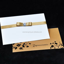 Design hot sell top quality high end wedding card