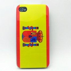 Spanish National Flag IMD Printing Mobile Phone Case For iPhone 5 5S
