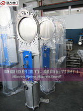JIS CF8/CF8M Pneumatic knife gate valve