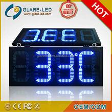 outdoor 12/24 hour LED clock timer digital display screen sign