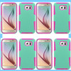 Top Selling PC+Silicon Hybrid Mesh Combo Case For samsung s6 phone case