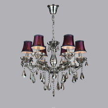 MD6018-6 Crystal Chandelier Lighting with Lampshade